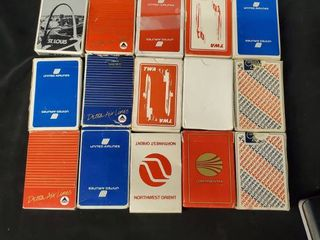 lot of 15 Collectible Airline Playing Cards