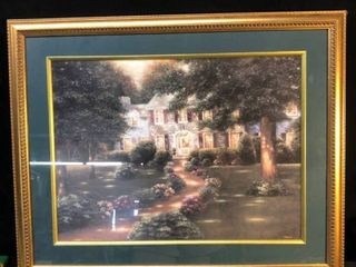 Hand Painted Framed Oil Painting location bear Shelf P4