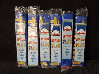 lot of 6 Thunderbird Flags 28 in x 35