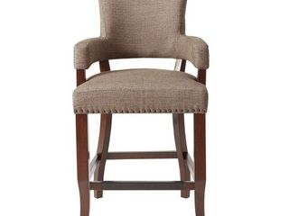 Madison Park Parler Brown Arm 26in Counter Stool