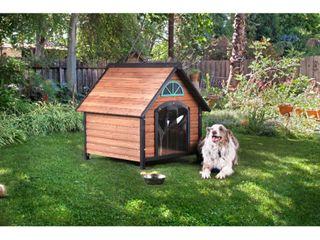 Kevo Rustic Brown Solid Wood Pet House