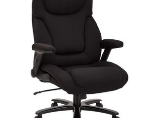 Big and Tall Deluxe High Back Executive Office Chair in Black Fabric
