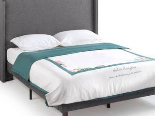 Dieren Upholstered Wingback Platform Bed   King
