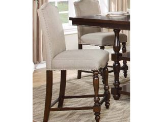 Upholstered Counter Height Chair  Set of 2