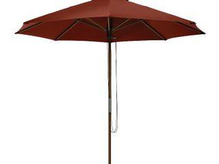 Classic Accessories Montlake Fadesafe 9  Round Bamboo Patio Umbrella