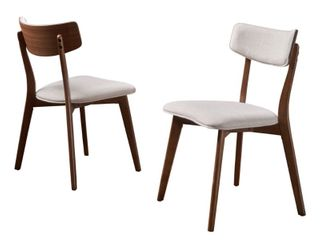 Chazz Mid century Dining Chairs  Set of 2
