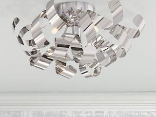 lace 16 in W Polished Chrome 4 light Flush Mount