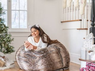 Glam 3ft Faux Fur Beanbag Chair