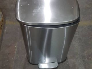 SoftStep 50 liter 13 2 Gallon Trash Can  Dented and Closes Slowly but Works