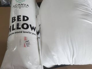 Acanva 100  Polyester Pillows 1 sealed  1 unsealed