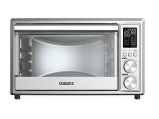 Galanz 0 9 cu ft 6 Slice Digital Toaster Oven with Air Fry   Stainless Steel