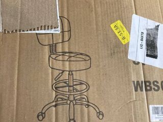 KKToner Swivel Round Crafting Chair with Back