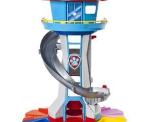 PAW Patrol My Size lookout Tower with Exclusive Vehicle  Rotating Periscope and lights and Sounds