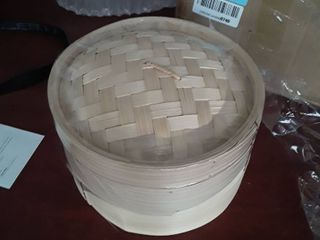 Bamboo Steamer Racks  set of 2 with lid