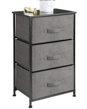 3 DrawerStorage Unit Color Charcoal 00114MDC0
