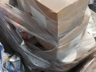 mixed pallet of grout  mastic  grout boost and mortar