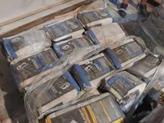 pallet of underlayment and grout