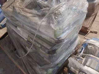 pallet of mortar and grout