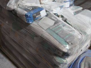 pallet of grout  mortar  mud bed mix  underlayment