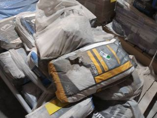 pallet of mortar  grout  and underlayment