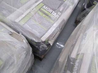 pallet of mortar for ceramic gray