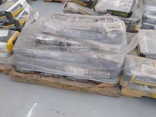 mixed pallet of mortar