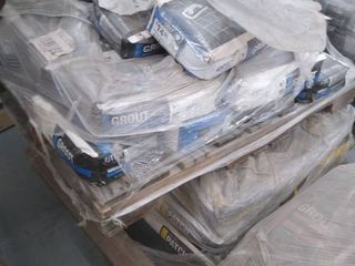 pallet of grout and skimcoat patch
