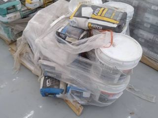 pallet of grout and mastic