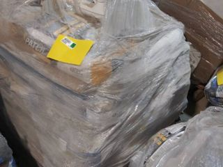 mixed pallet of patch  grout  mortar and self leveling underlayment