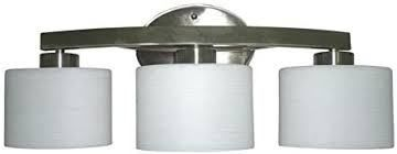 allen   roth 3 light Merington Brushed Nickel Bathroom Vanity light