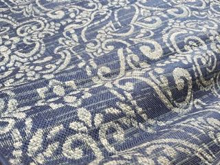 Blue indoor outdoor area rug 5x8