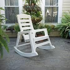Adams Adirondack Real Comfort Plastic Rocking Chair  White