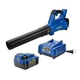 Kobalt 24 Volt lithium Ion 410 CFM 100 MPH Brushless Cordless Electric leaf Blower  Battery Included