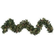 Dual color lighted Branch Garland