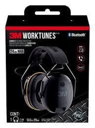 3M WorkTunes Connect Hearing Protector with Bluetooth Technology  Built In Rechargeable Battery  Audio Voice Assist