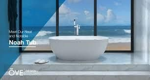 OVE Decors Noah 63 in Gloss white with Center Drain Bathtub