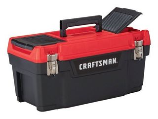 Craftsman 20 in  Plastic Tool Box 9 7 in  W x 9 75 in  H Black Red