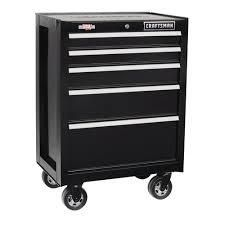 Craftsman 26 inch Black 5 Drawer Rolling tool cabinet