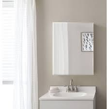 Style Selections 20 in x 26 in Rectangle Surface Mirrored Particleboard Medicine Cabinet
