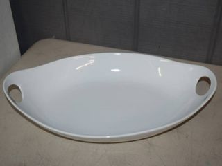 Fitz   Floyd Everyday White large Serving Bowl with Handles