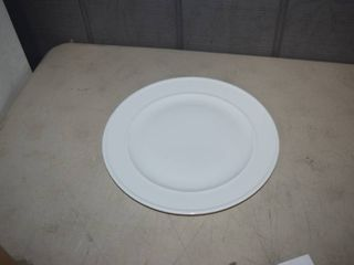 6 Fitz   Floyd Everyday White Dinner Plates