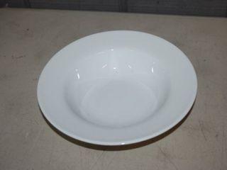 6 Fitz   Floyd Everyday White Rim Round Soup Bowls 9