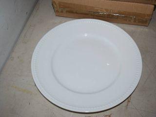 12 Fitz   Floyd Everyday White Dinner Plates