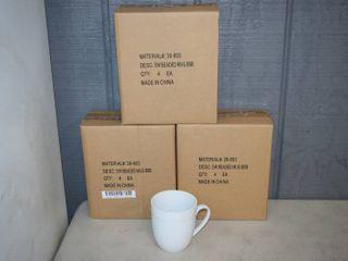 12 Fitz   Floyd Everyday White Coffee Mugs