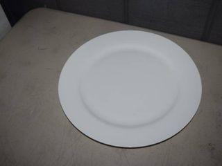 6 Fitz   Floyd Nevaeh White Grand Rim Dinner Plates