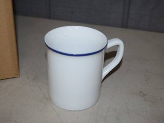 6 Fitz   Floyd Everyday White Coffee Mugs