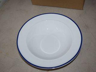 6 Fitz   Floyd Everyday White Soup Bowls