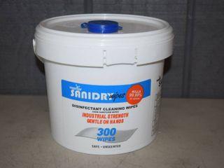 Rosmar Sanidry Disinfectant Wipes   300 Count Bucket