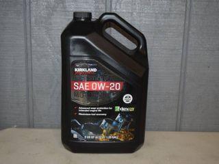 5 Quarts Kirkland Full Synthetic SAE 0W 20 Motor Oil