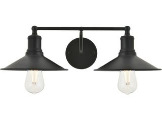 living District 21  Black Wall Sconce